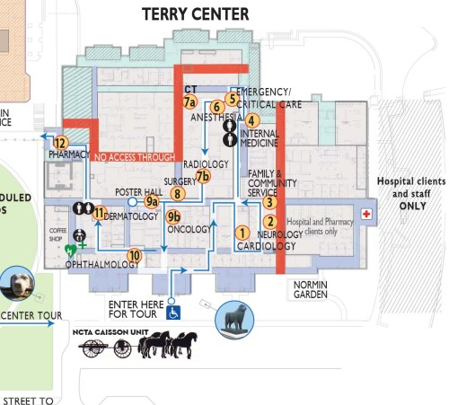 small resolution of map of terry center
