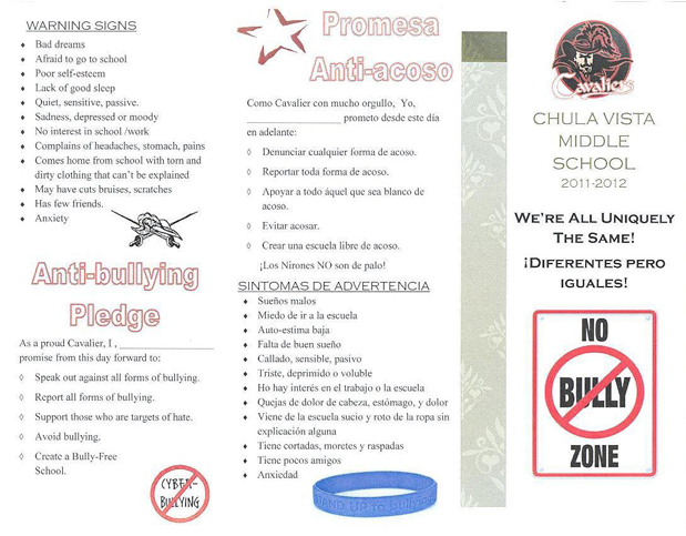 Chula Vista Middle School Anti Bullying Campaign