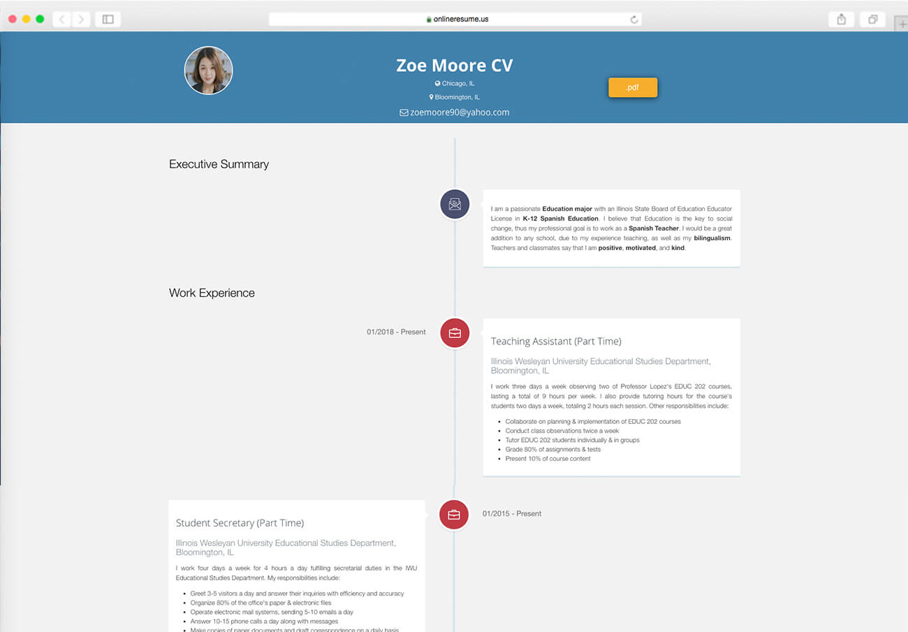 Web Based Resume Builder Create Cv From Linkedin Build A Much More Engaging And