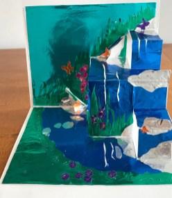 Susan Sandman: Butterflies 4: Waterfall, paper sculpture (3/31/21)