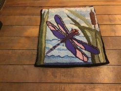 Francine Levine: Hooked rug/pillow