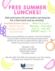 Summer Meals for Youth @ Farmville Branch