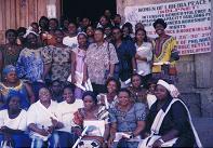 Liberian women leaders after workshop