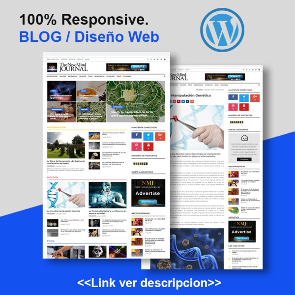 Diseño de Blog en wordpress