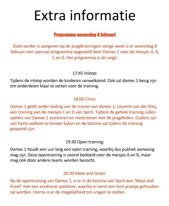 info clinic D1met Lisa Vossen
