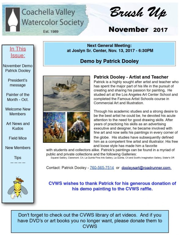 Brush Up Newsletter - November 2017