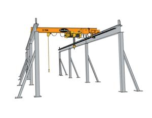 Top Running Knee Braced Crane Runway