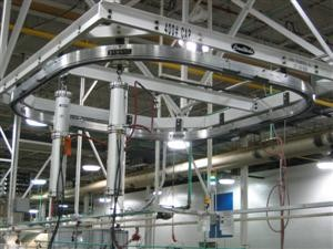 Ceiling Supported Circular Monorail System with Bal-Trol Units