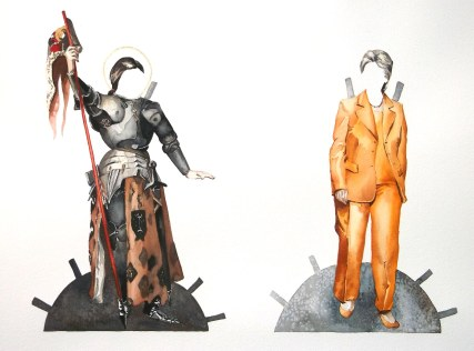 Power Dressing (detail), watercolor, 2014