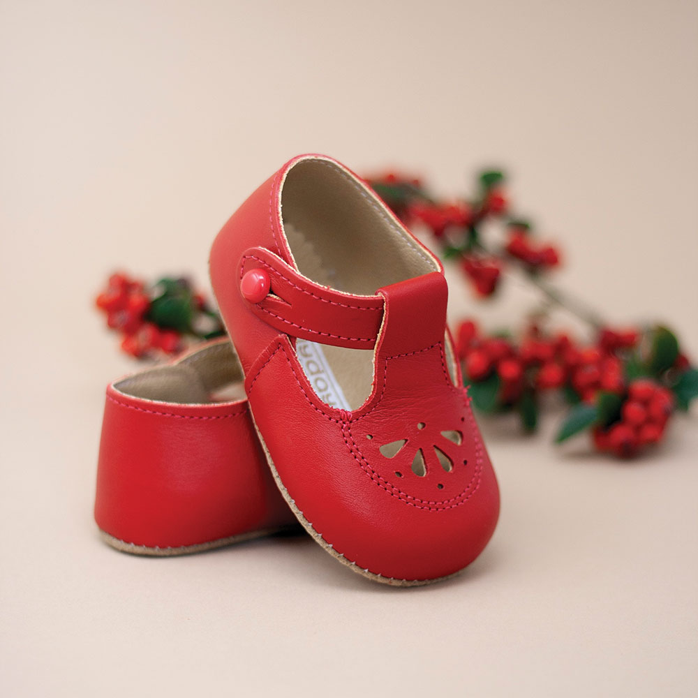 Bright red Early Days childrens shoes