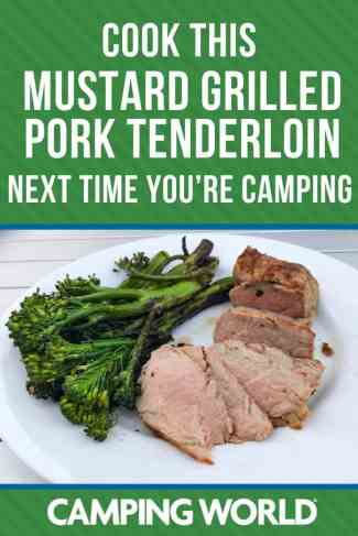 Cook this mustard grilled tenderloin next time you're camping
