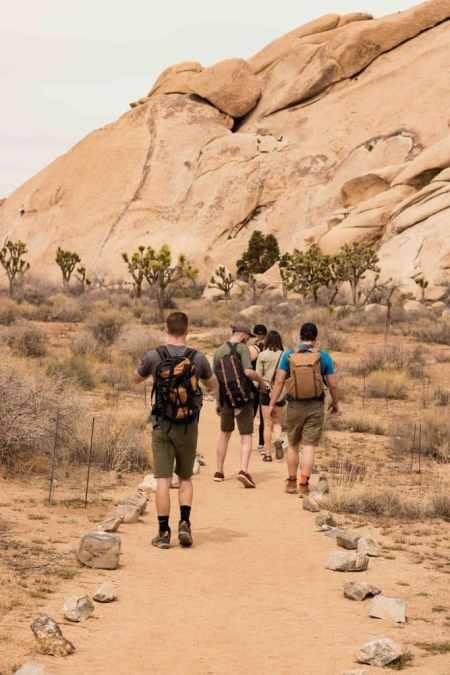 Hiking at Ryan's Mountain