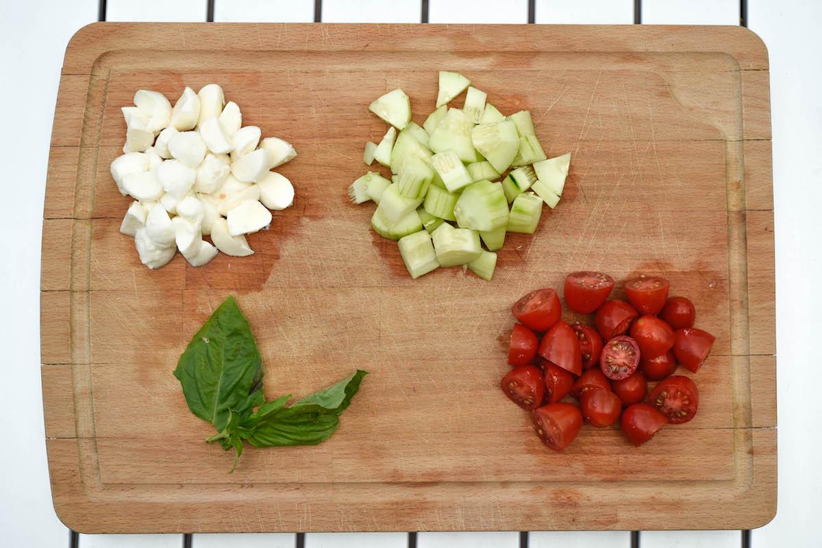 Cucumber Caprese Salad Ingredients