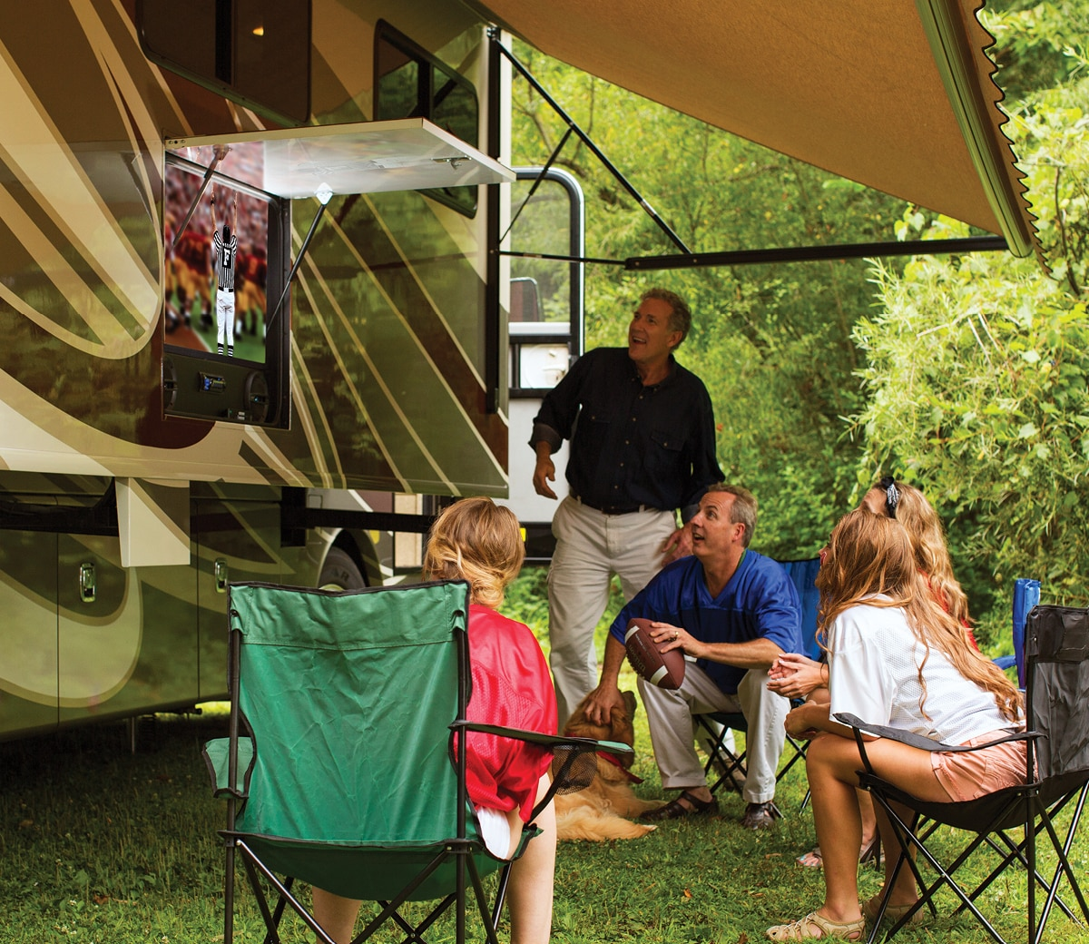RV television uses energy.
