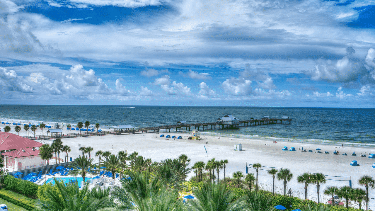 Visit one of the best beaches in Tampa Bay: Clearwater Beach