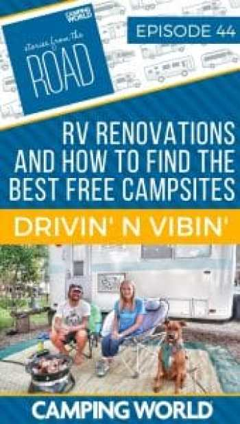 After three years of traveling and living in a 16' vintage travel trailer, Kyle and Olivia have learned a lot about RV life, making money while traveling, and finding the best boondocking spots. Their current project is a renovation of a vintage Airstream Argosy. In this episode, Kyle and Olivia share their favorite tips on RV renovations and how to find the best free campsites. #rvlife #rvliving #camping #happycamper #fulltimerving #fulltimervlife #storiesfromtheroad #rvrenovation #airstream
