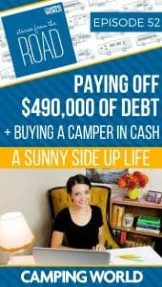 In this episode, Sam interviews Sami Womack, the budgeting coach, motivational speaker, + podcaster from A Sunny Side Up Life. Sami shares her family's story of becoming debt-free, paying off an incredible $490,000 of debt, downsizing their lifestyle, and buying a boat, truck, and camper all in cash by living on a budget. #rvlife #rving #buyinganrv #camper #happycamper #storiesfromtheroad #debtfreeliving #debtfree