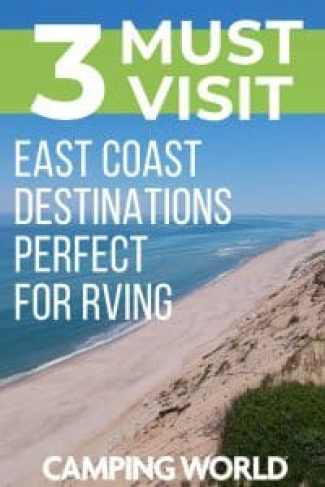 The East Coast is home to some of the most beautiful beaches in the country, and while there might not seem to be as much wide open space as there is in the Western United States, there's still tons of exploring you can do or plenty of spots to sit back and relax. With all that in mind, here are three East Coast destinations that are perfect for an RV trip. #rving #rvlife #camper #camping #camperlife #happycamper