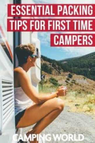 If you have an RV, whether you have a motorhome or a towable, and have selected your first destination, you're ready to pack it up and have some fun. The biggest challenge most new campers have is deciding what to take without overloading your RV with unnecessary items. Save space, time, and stress with these essential packing tips for first time campers. #rving #rvlife #camper #camping #camperlife #happycamper
