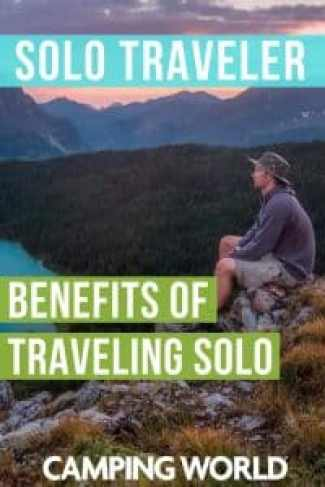 For many, traveling alone congers up fears of loneliness, getting lost, or the insecurities of making big decisions alone. If you look past the fear you will find that the rewards of solo travel far outnumber the detriments. Check out this post to learn about the great benefits of traveling solo. #solotravel #rvtravel #rvlife #camper #camping #camperlife #happycamper #solotraveler