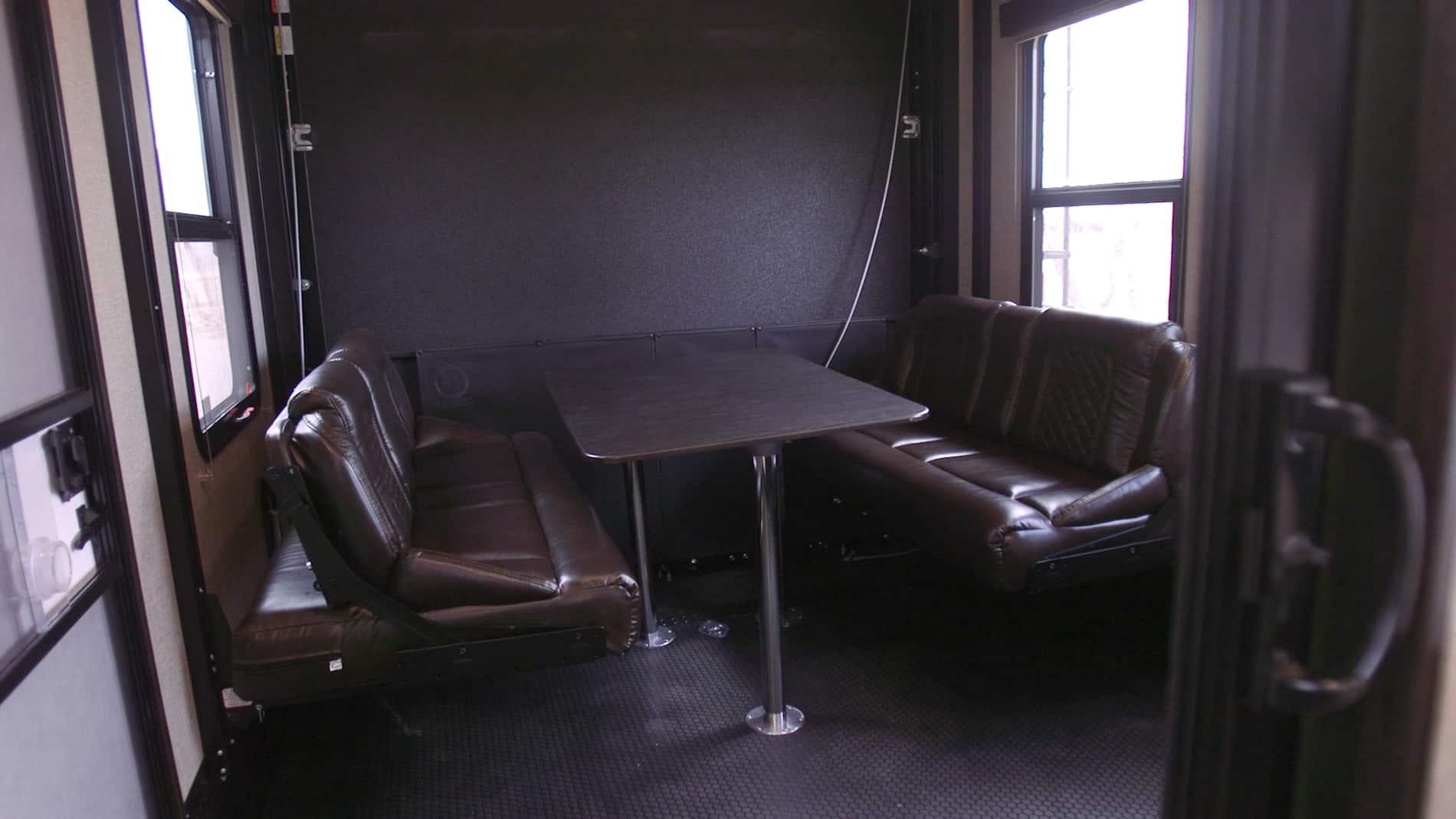 RV garage before