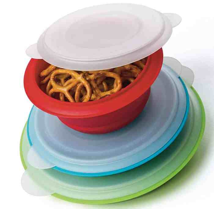 collapsible storage bowls for an RV