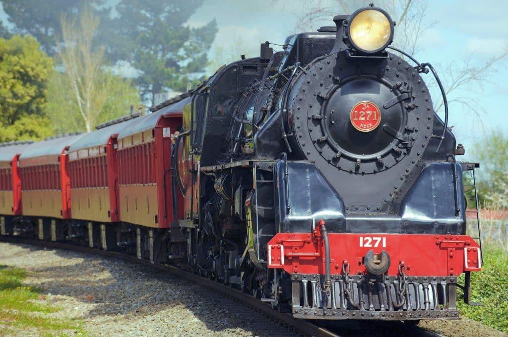 Steam Engine Train on Track