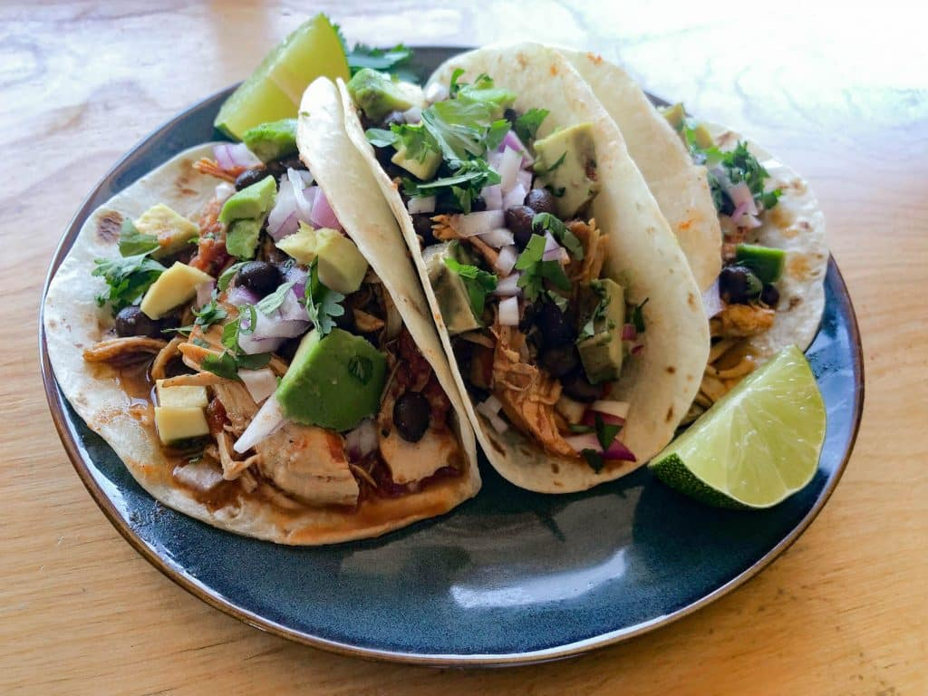 chicken tacos from Instant Pot