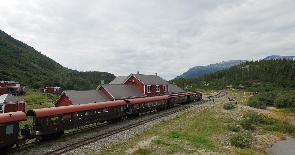 White Pass & Yukon Route Train at Bennett