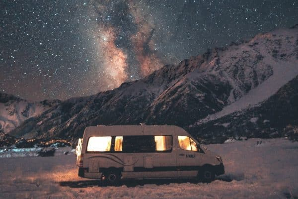rv camping in the winter