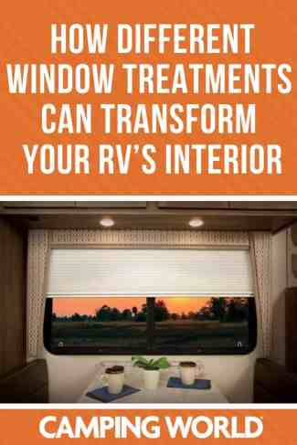 How different window treatments can transform your RV's interior