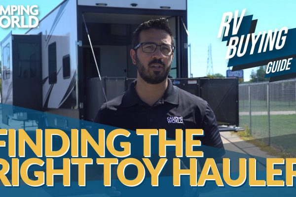 RV Buying Guide: Finding the Right Toy Hauler