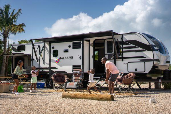 The Hambricks camping in the Florida Keys