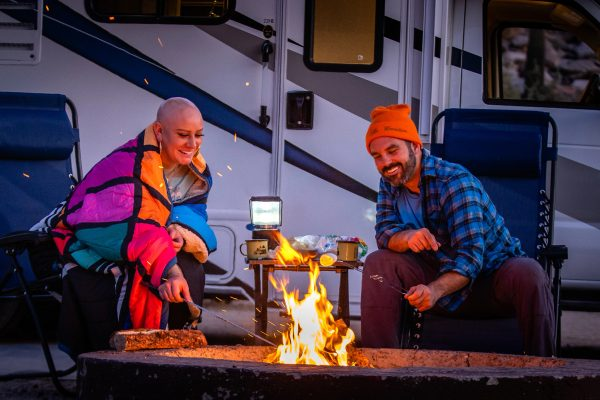 Wade and Abby camping in the southwest