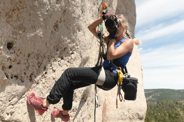Savannah Cummins rock climbing photography