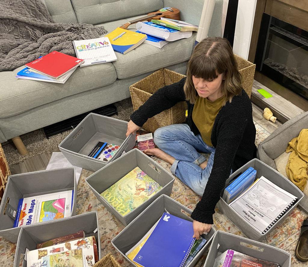 bin organization in an RV keeps things tidy.
