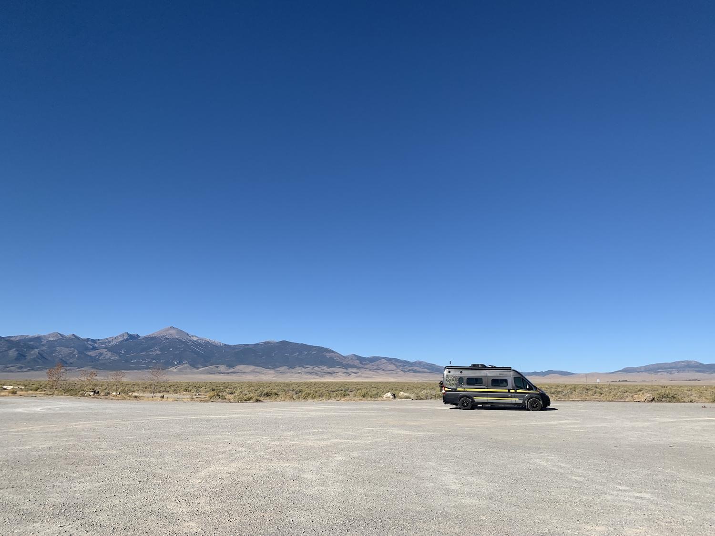 Pretty dry camping RV desert