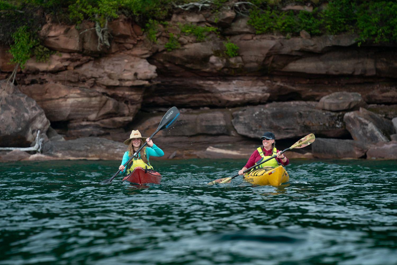 abby kathy holcombe kayaking great lakes