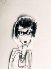 Pencil sketch of Sarah King