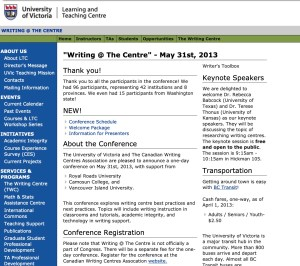 Web page from 1st CWCA/ACCR conference