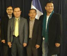 Photo 2016 (from left): Men Nath, Um Sam An, Chham Chhany and Pang Sokhoeun
