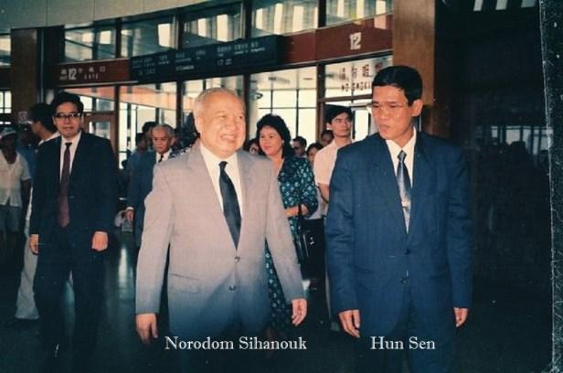 N Sihanouk & HunSen