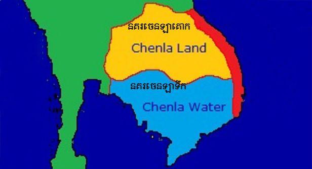 Chenla era map
