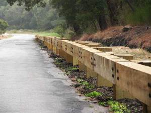 Steel-Backed Timber Guardrail Installation