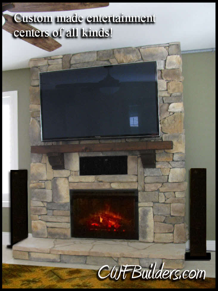 Fireplace Electric Wall Mount Construction Santa Clarita, Christopher French Contractor