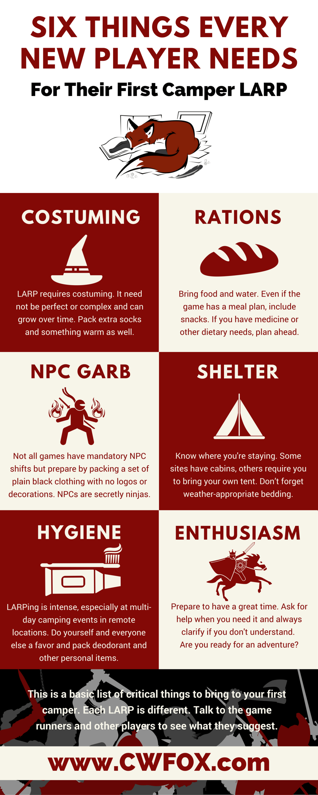 Six Things Every New Player Needs for Their First Camper LARP
