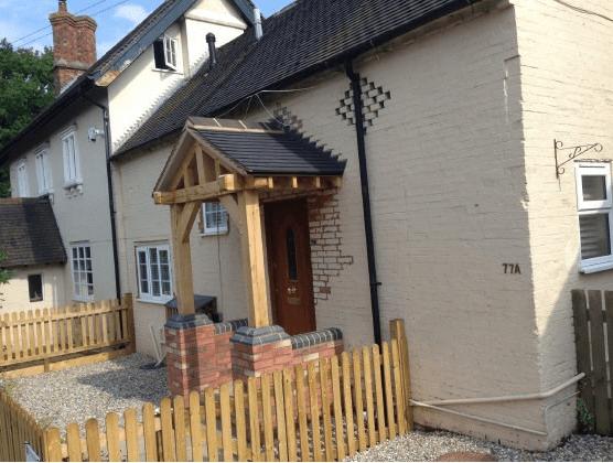 C Whyman Building Services Cannock - Porch Build