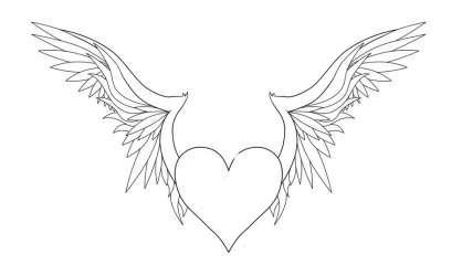 wings hearts heart line photoshop portfolio