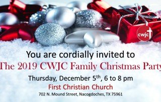 Christmas Invitation to the 2019 CWJC Family Christmas Party