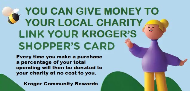 Link your Kroger Rewards card to CWJC of Nacogdoches and a percentage of your purchase will go to us without costing you anything.